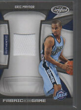 ERIC MAYNOR  2009-10 PANINI CERTIFIED FABRIC OF THE GAME JERSEY CARD #FOG-EM/250