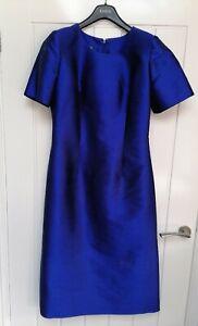 The Thai Shop 100% Silk Blue Vintage Dress Large Formal Evening Party 10 - 12
