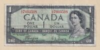 Devil's Face 1954 $1 Bank of Canada Coyne Towers  - Fine