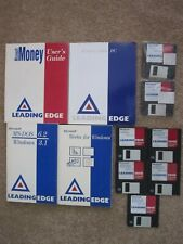 Vintage Leading Edge User's Guide and Lot of 9 Floppy Disks.