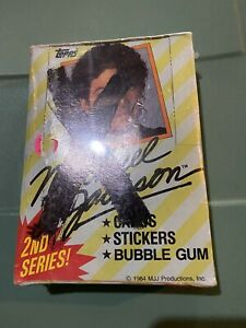 1984 Topps Michael Jackson Wax Box Series 2 36 packs of cards