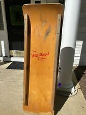 """VINTAGE ANTIQUE WOODEN Water Toboggan Sled """" Water Nymph"""" RARE wall decor table"""