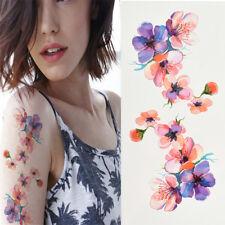 Fashion Women Sexy Beauty 3D Flowers Waterproof Temporary Tattoo Stickers