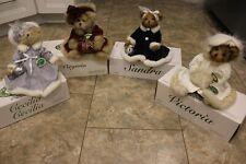"4 Bearington Bear Collectibles 14"" Holiday Christmas Bears Cecilia Virginia Etc"