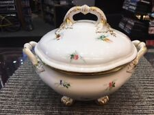 Magnificent Antique Ovington Brothers Brooklyn  Porcelain Covered Soup Tureen
