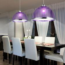 Suspension lustre luminaire plafond violet lila éclairage salle à manger cuisine