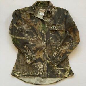 Mossy Oak Women's Size Small High Low Hem Long Sleeve Camo Hunting Shirt Jacket