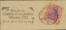 DT.REICH BERLIN SW / 11 / Besucht die / Deutsche Gewerbeschau / München 1922