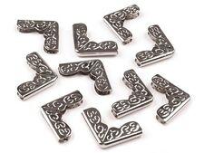 20 Stück Buchecken Metallecken Ecken 17x17x5x2 mm vernickelt NEUWARE