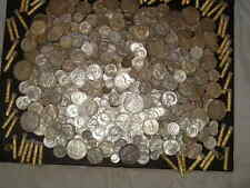 90% PURE SILVER 1+OZ US COINS 1964 & OLDER HALF DOLLAR QTRS DIMES ~NO GOLD FLAKE