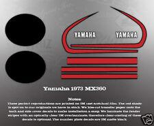 YAMAHA 1973 MX360 TANK COVER DECAL GRAPHIC KIT LIKE NOS