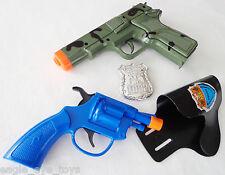 2XToy Guns! Military 9MM Pistol Cap Guns - CAMO - Snub Nose Clicker w/ Holster