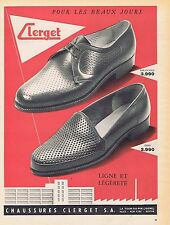 PUBLICITE ADVERTISING 114 1956 CLERGET chaussures pour hommes