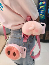 For Various Phone Hot Wallet Crossbody Cute Cartoon Pig Nose Creative Case Cover