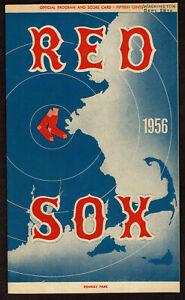 1956  BOSTON RED SOX vs WASHINGTON SENATORS   baseball program