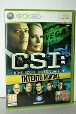 CSI INTENTO MORTALE USATO OTTIMO STATO XBOX 360 EDIZIONE ITALIANA GP1 39813