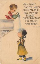 EB Kemble~Girl Pours Water on Suitor~Can't Dampen Affection~Put Mac in MacIntosh