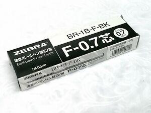 (10 x Zebra F-0.7 Refill) for BA115 Ball Point Pen, BLACK