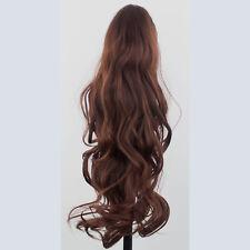 """22"""" PONYTAIL Clip Hair Piece FLICK Dark Auburn #33 Claw Clip"""