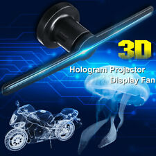 3D Holographic LED Projector Display Advertising Hologram Player Lamp Fan Photos