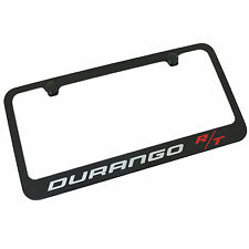 Dodge Durango R/T Silver Fill & Red Fill Black Metal License Plate Frame