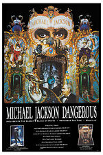 Michael Jackson *DANGEROUS TOUR POSTER* UK 1993   Wide Format  24x36