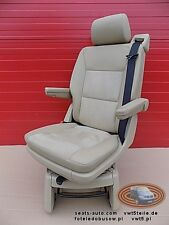 VW T5 Multivan Drehsitz Sitz Beige Alcantara leder   swivel seat beige leather