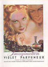 ▬► PUBLICITE ADVERTISING AD PARFUM PERFUME Imagination VIOLET Parfumeur Brénot