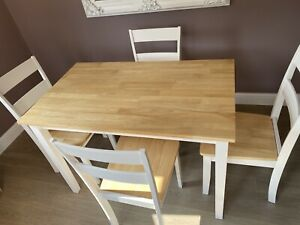 oak dining table and 4 chairs used