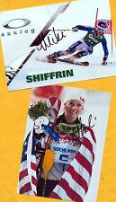 Mikaela shiffrin - 2 top autógrafo imágenes (19) - Print copies + ski ak firmado