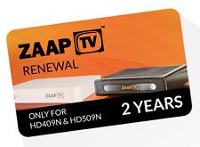 Zaaptv hd409n & zaaptv hd509n IPTV estensione per 2 anni