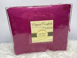 Elegant Comfort 1500 Thread Count 100% Egyptian Cotton Pink Duvet Full/Queen NEW