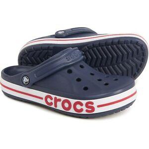 BRAND NEW Crocs Bayaband Clogs Sandals Navy Blue Pepper :: Womens Size 8