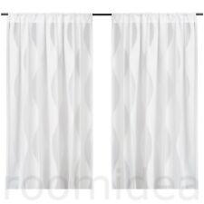 IKEA MURRUTA 2 Gardinenstore Paar 145x300 Vorhang Vorhänge Gardinen weiß NEU&OVP