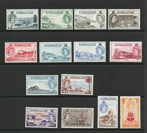 GIBRALTAR SG 145-58 1953 Q E II DEFINITIVE SET MNH
