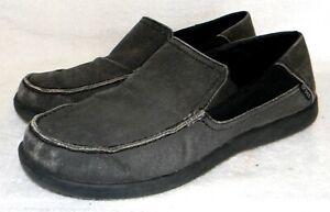 """CROCS """"Santa Cruz 2 Lux"""" men's canvas comfort shoes, retail $60, sz. 13M"""