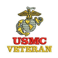 EGA USMC Veteran Marines Army Military Embroidered Polo Shirt