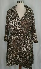 Vertigo Paris Animal Leopard Print Black Brown Gold Glittery Coat Jacket Sz M