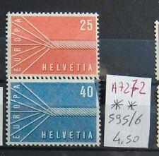 FRANCOBOLLI SVIZZERA NUOVI** N°595/96 (A7272)