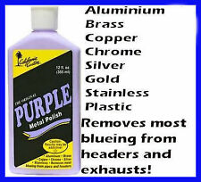 Purple Metal Polish Alloy Chrome Stainless Brass Silver Copper Holden Ford Chev