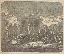 A3791 Abitanti di Belucistan - Incisione - Stampa Antica del 1887