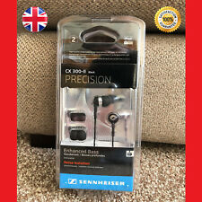 Sennheiser CX 300-II Precision In-Ear only Headphones- Black - Fast Dispatch- UK