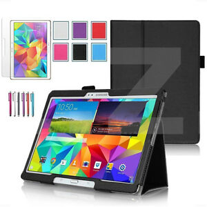 """UK Folio Leather Smart Case Cover Stand for Samsung Galaxy Tab S 10.5"""" SM-T800"""