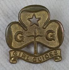 Girl Guide Vintage Bronze Pin Badge, by Collins of London