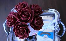EXTRA SMALL Handmade Single Edible Sugar Rose Flower Cake Cupcake Topper Wedding