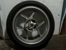 KAWASAKI KLE650 VERSYS REAR WHEEL WITH TYRE. SILVER