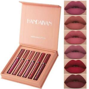 6PCS/Set Long Lasting Lip Gloss Beauty Glazed Matte Lipstick Lip Liquid Z2B5