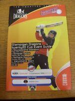 22/06/2007 Cricket Programme: Glamorgan v Gloucestershire & 26/06/2007 Somerset