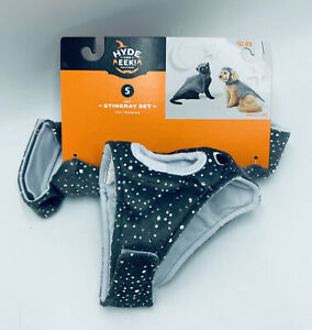 Hyde and Eek Boutique Stingray Small Pet Costume Cat Dog Gray 2 Piece Halloween