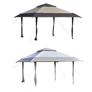 4 x 4m Outdoor Pop Up Canopy Tent Gazebo w/ Adjustable Legs and Bag Khaki